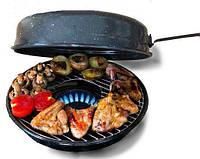 Эмалированная сковорода-гриль 32 см Гриль-газ