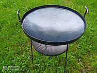 Сковорода из диска бороны 50 см с подставкой для огня