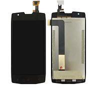 Дисплей (экран) для Blackvew BV7000 с сенсором (тачскрином) черный