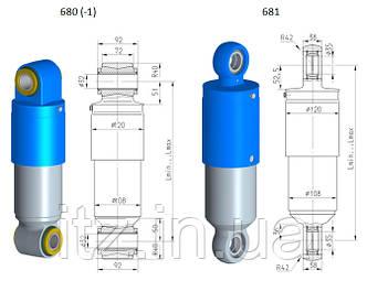 Гидродемпферы 680 (-1) / 681