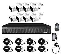 Комплект видеонаблюдения Longse AHD 8 OUT на 8 камер 2 Мп Full HD 1080P (100047)