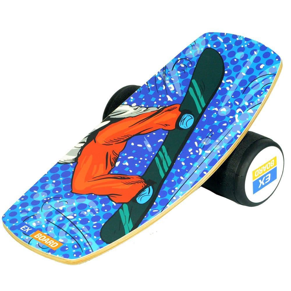Балансборд Ex-board Pro Snowboard чорний валик 16 см литий (EX91)