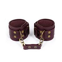 Эротические кожаные наручники | эротические аксессуары бдсм LOVECRAFT manacles Фиолетовые (SO3295), фото 1