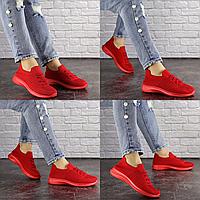 Женские красные кроссовки Stella 1577 Текстиль . Размер 36 - 23 см. Обувь женская