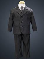 Нарядный выпускной костюм с рубашкой, жилетом и галстуком на мальчика 2-12 лет