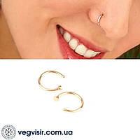 Септум обманка в нос пирсинг клипс Фейк носовые кольца из нержавеющей стали
