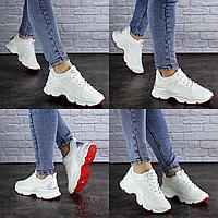 Женские кроссовки летние белые Bella 1925 эко - кожасетка . Размер 39 - 24,5 см. Обувь женская