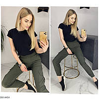 Женские стильные брюки с карманами
