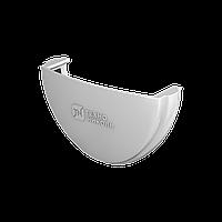 Заглушка Желоба Водосточные системы Технониколь, Белая 125/82 мм ПВХ