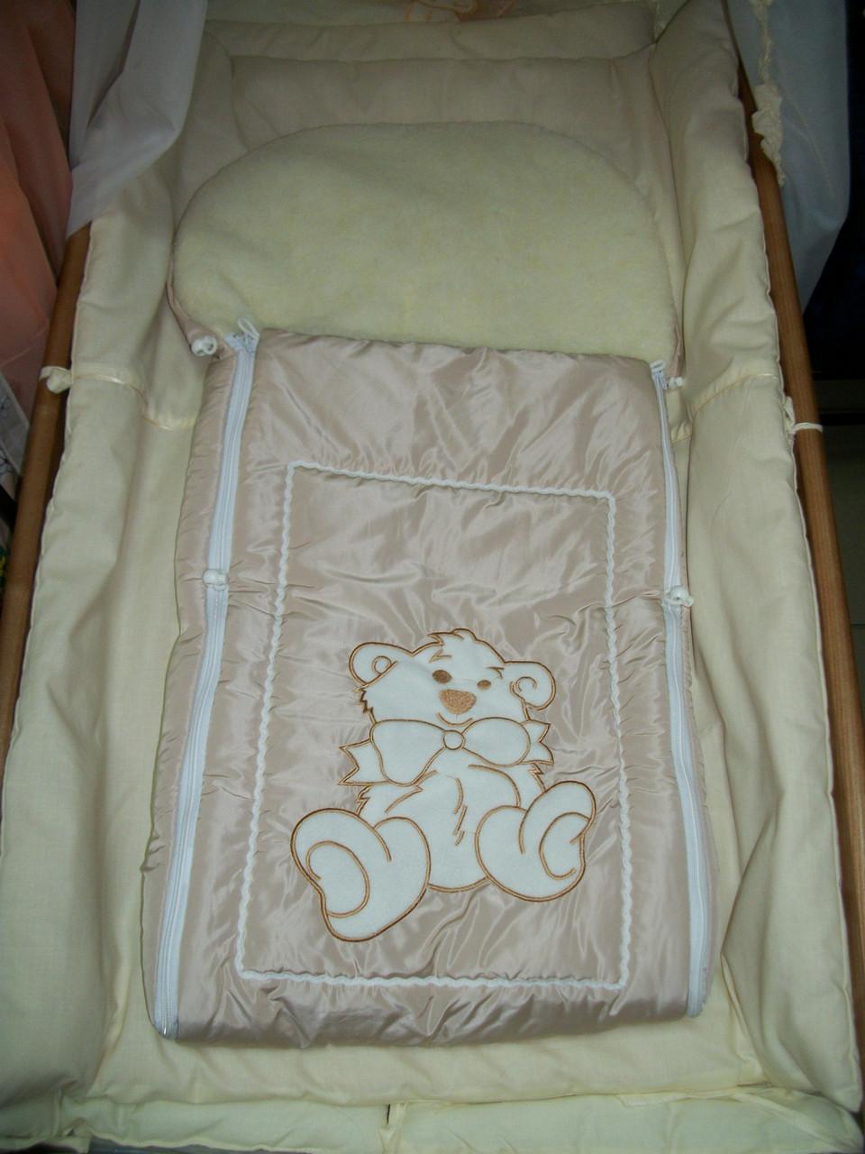Тепленький конверт в санки и в коляску(Вышивка). Цвета в ассортимете