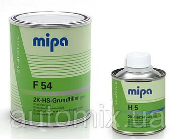 Грунт Mipa выравниватель F54 4+1 2K HS 1 л черный с отвердителем H5 0.25 л