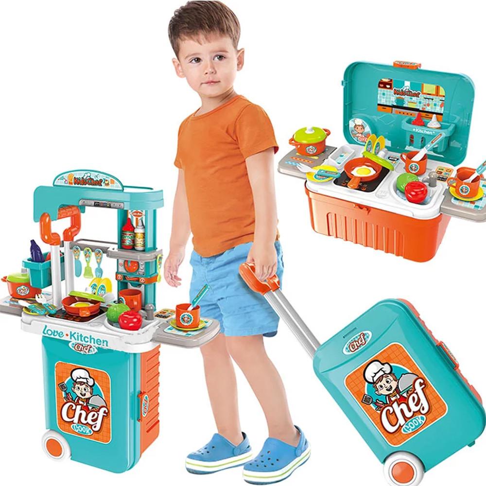 Детская интерактивная кухня в чемодане Chef 3 в 1