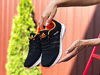Женские кроссовки Adidas Neo черные. Модные кроссовки женские черного цвета. , фото 1