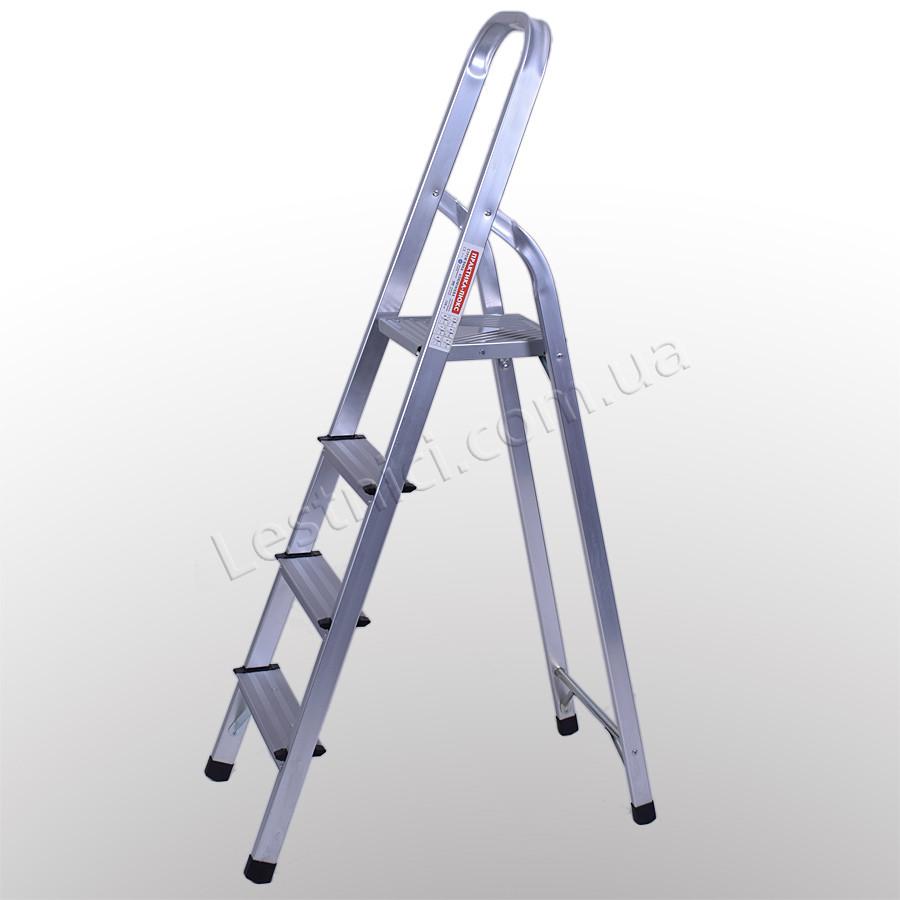 Стремянка алюминиевая 4 ступени Практика New 23604