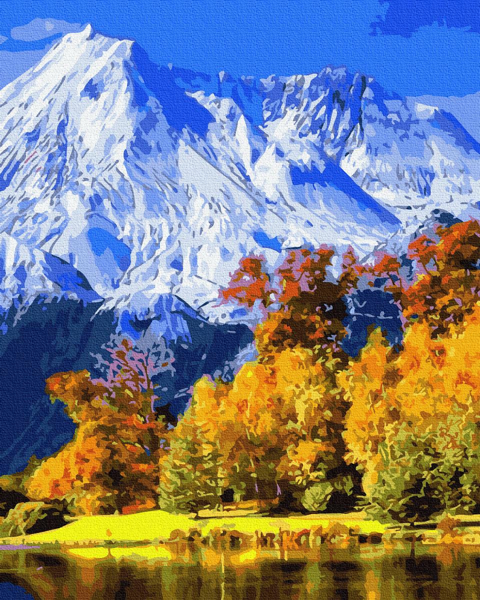 Раскраска по номерам Живописные горы GX34600 Rainbow Art 40 х 50 см (без коробки)