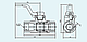 Кран разобщительный 4309 тормозных пневматических приборов, фото 2