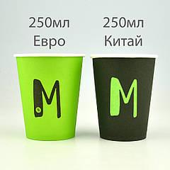 Чем отличаются Евро и Китайский размеры бумажных стаканов.