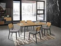 Стол обеденный Signal Мебель Vitro II 120(160) х 80 см Графит (VITROIIDGR120)