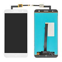 Модуль (сенсор+дисплей) для ZTE Blade V7 білий, фото 2