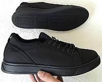 Универсальные мужские кожаные кеды без шнурков на резинках Mante PRO!, фото 1