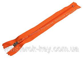 Молния спиральная №3 Sport неразъемная 18см цвет Оранжевый