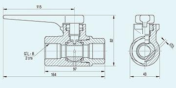 Кран разобщительный 4300В пневматичних гальмівних приладів