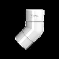 Колено трубы 108° Технониколь, Белое ПВХ D125/82 мм