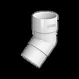 Колено трубы 135° Технониколь, Белое  ПВХ D125/82 мм, фото 2