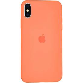 Чехол Silicone Case для Apple iPhone X силиконовый, Папайя