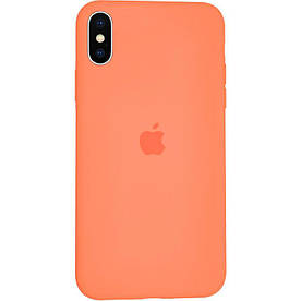 Чохол Silicone Case для iPhone X силіконовий, Папайя