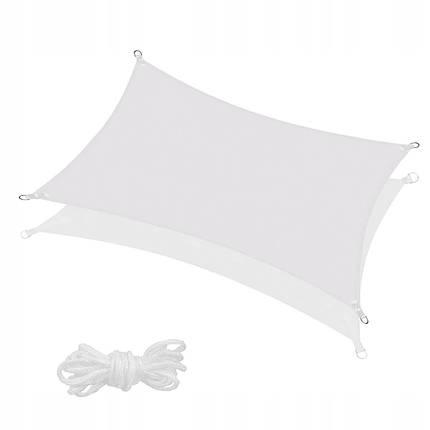 Тент-парус теневой для дома, сада и туризма Springos 4 x 3 м SN1035 Grey, фото 2