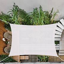 Тент-парус теневой для дома, сада и туризма Springos 4 x 3 м SN1035 Grey, фото 3