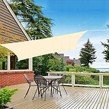 Тент-парус теневой для дома, сада и туризма Springos 3 x 3 м SN1028 Light Yellow, фото 3