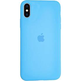 Чехол Silicone Case для Apple iPhone X силиконовый, Marine Blue