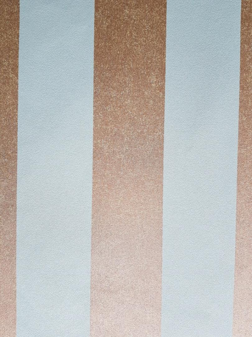 Шпалери вінілові на флізеліновій основі Marburg 31376 Origin метрові смуги широкі бірюзові золотисті