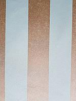 Обои виниловые на флизелиновой основе  Marburg 31376 Origin метровые полосы широкие бирюзовые золотистые