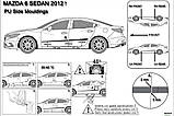Молдинги на двері для Mazda6 4Dr SD (GJ1) 2012–2016, (GL) 2016+, фото 4