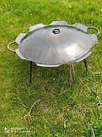 Сковорода из диска бороны ромашка 55 см с крышкой