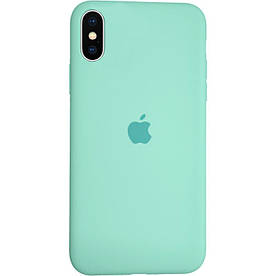 Чехол Silicone Case для Apple iPhone XS силиконовый, Ice Sea Blue