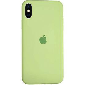 Чехол Silicone Case для Apple iPhone XS силиконовый, Авокадо
