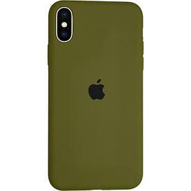 Чехол Silicone Case для Apple iPhone XS силиконовый, Pinery Green