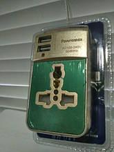 Универсальный переходник, розетка, адаптер 4 в 1 бронза