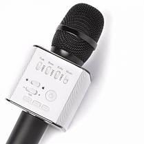 Беспроводной микрофон для караоке Tuxun Q9 черный с колонкой + чехол