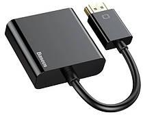 Переходник конвертер BASEUS HD Converter HDMI 4k на VGA, черный
