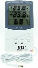 Цифровой термометр, гигрометр, часы ТА318