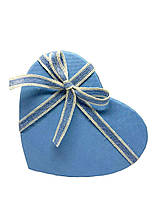 Подарочная коробочка в форме сердца. Голубая.