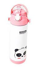 Термос-поилка детский с трубочкой Stenson MT-2089 500мл, белый