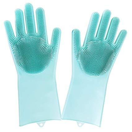 Силиконовые многофункциональные перчатки для мытья и чистки Magic Silicone