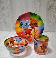 """Набор детской посуды """"Мишки Ми-Ми-Мишки"""" 3-х предметный."""