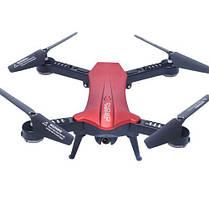 Складной квадрокоптер с камерой HD 720P и WIFI Lishitoys L6060W Red
